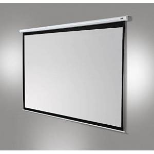 celexon manually extendable home cinema business projector screen 4K + FullHD pull down canvas Economy- 280x210 cm - 4:3 - Gain 1.0