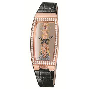 Corum 113.102.85-00010000-Watch for Women, Leather Strap Black