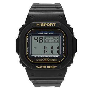 Godagoda Kids and Men Luminous Outdoor Sports Multi-Function Electronic Leather Watch