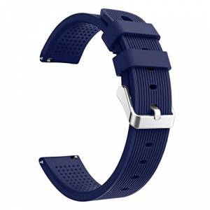 Wokee for Huami Amazfit Bip Watch Unique Watchband Sport Soft Silicon Accessory Watch Band Wirstband for Huami Amazfit Bip Watch (Navy)
