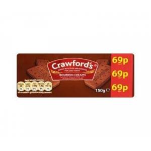 Crawfords Bourbon Creams (150g x 12)