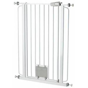 Bettacare Pet Gate with Cat Flap Effective Barrier for Pets with Extensions Available, 75 - 84 cm/ 104 cm