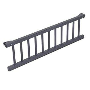 Babybay Guardrail for bedside sleeper Cot, Grey Varnished