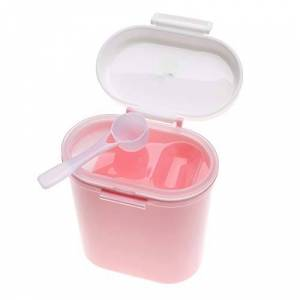 TOPINCN Baby Milk Powder Box Formula Dispenser Plastic Portable Kids Snack Food Fruit Candy Storage Container Large Capacity(Large Size-Pink)