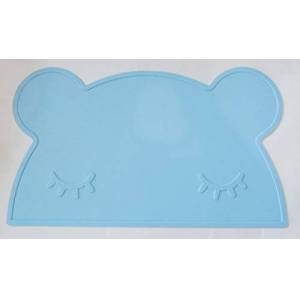 Wqyiuan Silicone Placemat Lovely Bear Bunny Rabbit Car Kids Baby Heat Resistant Pad Coaster Bpa Free Waterproof Tableware Portable Mat Bear Blue
