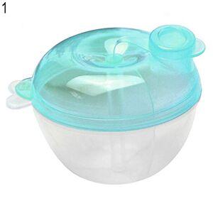 AchidistviQ 3 Interlayer Dispenser Food Storage Container Baby Feeding Milk Powder Box Blue Apple