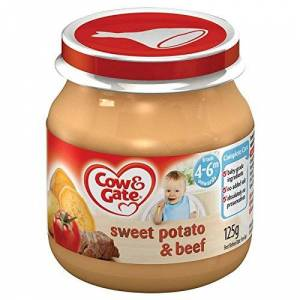 Cow & Gate 4 Month Baby Sweet Potato & Beef Pie Jar 125g