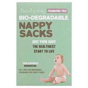 Beaming Baby 2 Packs of Beaming Baby Organic Biodegradable Nappy Sacks Non Fragrance (2 * 60 sacks = 120 sacks)