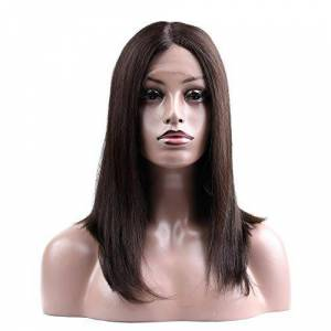 Jiabei Women's Lace Front Wigs Short Bob Straight Hair Synthetic Shoulder Length Wigs Heat Resistant Wigs (Color : Brown, Size : 12 inch)