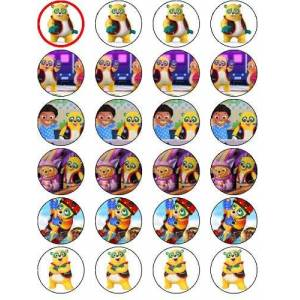 OCCASIONS CAKE ART SPECIAL AGENT OSO 24 EDIBLE ICING SHEET CAKE TOPPERS EACH DESIGN IS 40mm IN DIAMETER