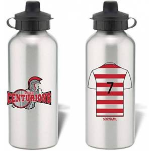 Leigh Centurions Personalised Aluminium Sports Water Bottle - Silver Bottle