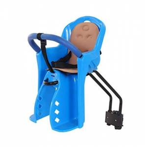 GHDE& Front-Mount Child Bike Seat, Child Bike Seat for Toddlers,Ultralight Baby Kids' Bicycle Carrier Handrail For 1-4 Years Old Baby,Blue