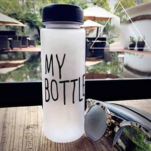 fghdfdhfdgjhh Outdoor Plastic Cup Creative Gift Sports Water Glass Drink Advertising Cup Large Capacity Water Bottle(20 * 8 * 8CM, black)