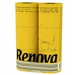 Renova 3 Ply Soft Toilet Paper 6 Pack (Yellow)