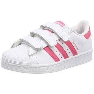 CG6621_0 adidas Unisex Kids' Superstar Cf C Gymnastics Shoes, White (FTWR White/Clear Pink/Clear Pink FTWR White/Clear Pink/Clear Pink), 10 UK