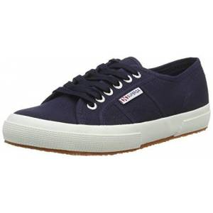S000010_F43 Superga Unisex Adults' 2750 Cotu Classic Trainers Low-Top, Blue (Navy-White F43), 8.5 UK (42.5 EU)