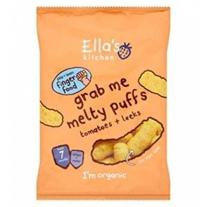 Ella'S Kitchen Grab Me Melty Puffs Tomatoes + Leeks From 7 Months 20G - Pack of 2