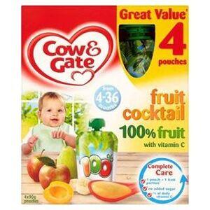 Cow & Gate 4-36 Mths+ Fruit Cocktail 100% Fruit Pouches 4 x 90G