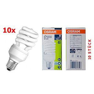 Osram Duluxstar Mini Twist CFL Energy Saving Light Bulb-6500K Cool Daylight, E2723W