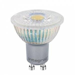 Integral LED Glass Warm Light Non-Dimmable Spotlight Bulb (GU10 PAR16, 4.4 W, 2700 k, 375 lm) - White