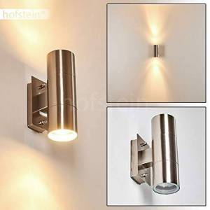 hofstein Outdoor Lighting Smart Modern Design Up and Down Lamp Stainless Steel Outdoor Wall Light for Driveways, Walls, Entrances
