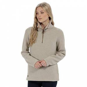 Regatta Women's Solenne Half Zip Symmetry Fleece Warm Beige, 16