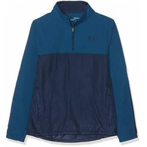Under Armour Kid's Windstrike 1/2 Zip Warm-up Top, Petrol Blue Academy (437), Youth Small