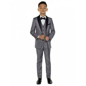 Paisley of London, Boys Grey Tuxedo, Boys Dinner Suit, Boys Prom Suits, 4 Years