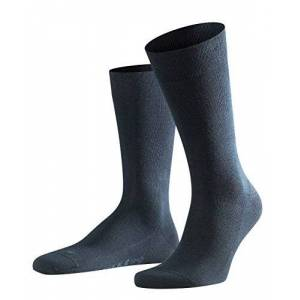 FALKE Men Sensitive London socks, 1 pair, UK size 5.5-8 (EU 39-42), Blue, cotton mix - Pressure free cuff, right and left foot for optimum fit, ideal for business and casual looks