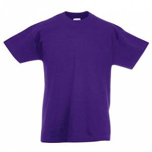 Fruit of the Loom Childrens T Shirt in Purple Size 3-4 (SS6B)
