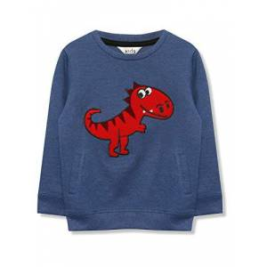 M&Co Boys Dinosaur Sweatshirt Age 9 Months to 5 Years Blue 18/24 Mnth