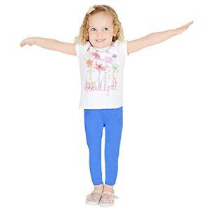 Women's Wardrobe Kids Girls Children Full Length Leggings Blue Size 5
