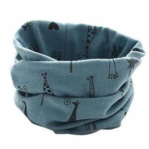 Momola Infant Neckerchiefs, Momola Newborn Baby Boys Girls Cute Unisex Keep Warm Scarf O Ring Neck Scarves For 0-3 Years Old (New-4-Blue)