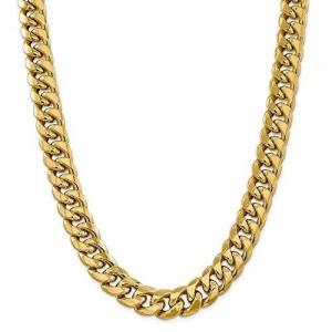 ICE CARATS 14k Yellow Gold 15mm Miami Cuban Chain Necklace 26 Inch Pendant Charm Curb Fine Jewellery Gifts For Women For Her