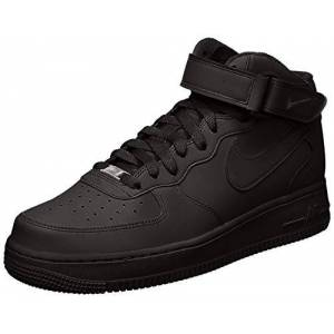315123-001_001 Nike Men's Air Force 1 Mid 07 Gymnastics Shoes, Black (Black/Black), 9.5 UK (44.5 EU)