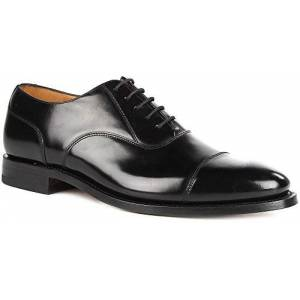 Men's LOAKE 200B Capped Oxford Lace-Up Polished Leather Shoes (8 G (UK), Black)