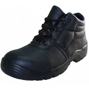 Safety-Site Chukka Boot Steel Toe Cap Black Size 11