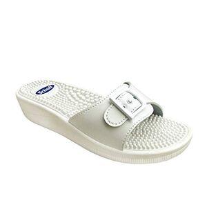 Scholl Size 40 White New Massage Fitness Sandals