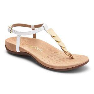 Vionic Women's Rest Miami Toe-Post Sandal White 7W