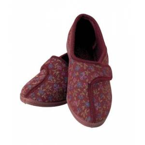 Homecraft Patterned Slippers for Ladies - Size 5, Red