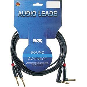 Klotz Twin-Inst.-Cable KeyMaster 3m Jack straigt/angled,KMPR0300