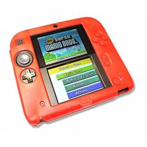Gamers Gear Red Soft Silicone Gel Cover Case for Nintendo 2DS Console