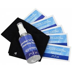 4Gamers Playstation 4 Officially Licensed Controller 'N' System Cleaning Kit also for PS4, PS3, Xbox One, Xbox 360, Nintendo Wii U