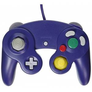 OSTENT Wired Shock Classic Controller Gamepad Joystick Joypad Compatible for Nintendo GameCube NGC Wii Console Video Games Color Purple