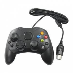 OSTENT Wired Controller Gamepad Joystick S Type 2 A Compatible for Microsoft Old Generation Xbox Console Video Games Color Black