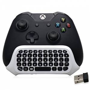BestFire Xbox One / One S Mini Keyboard 47 Keys Wireless 2.4G Practical Mini Handheld Keyboard Gaming Message Gamepad Keyboard Wireless Chatpad with Headset Audio Jack for Xbox One / One S Controller