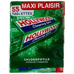 Hollywood Chewing Gum Spearmint 5Packs of 11Pieces