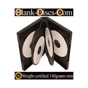 DVD-CASES 8 Way 27mm DVD Multi Cases Black - Pack of 5-Cases - Heavy duty 140grams Black PP Case