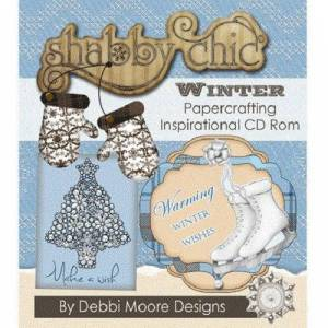 Jackdaw Express Debbi Moore Designs Shabby Chic Winter Papercrafting Inspirational CD Rom (298430)