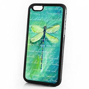 Pinky Beauty Australia (For iPhone 6/iPhone 6S) Durable Protective Soft Back Case Phone Cover - A11352 Green Dragonfly